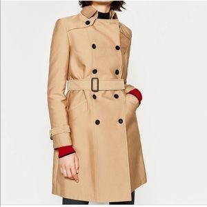 Zara • Double Button Belted Trench Coat